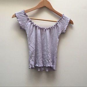 Brandy Melville Lavender Anya Off Shoulder Top
